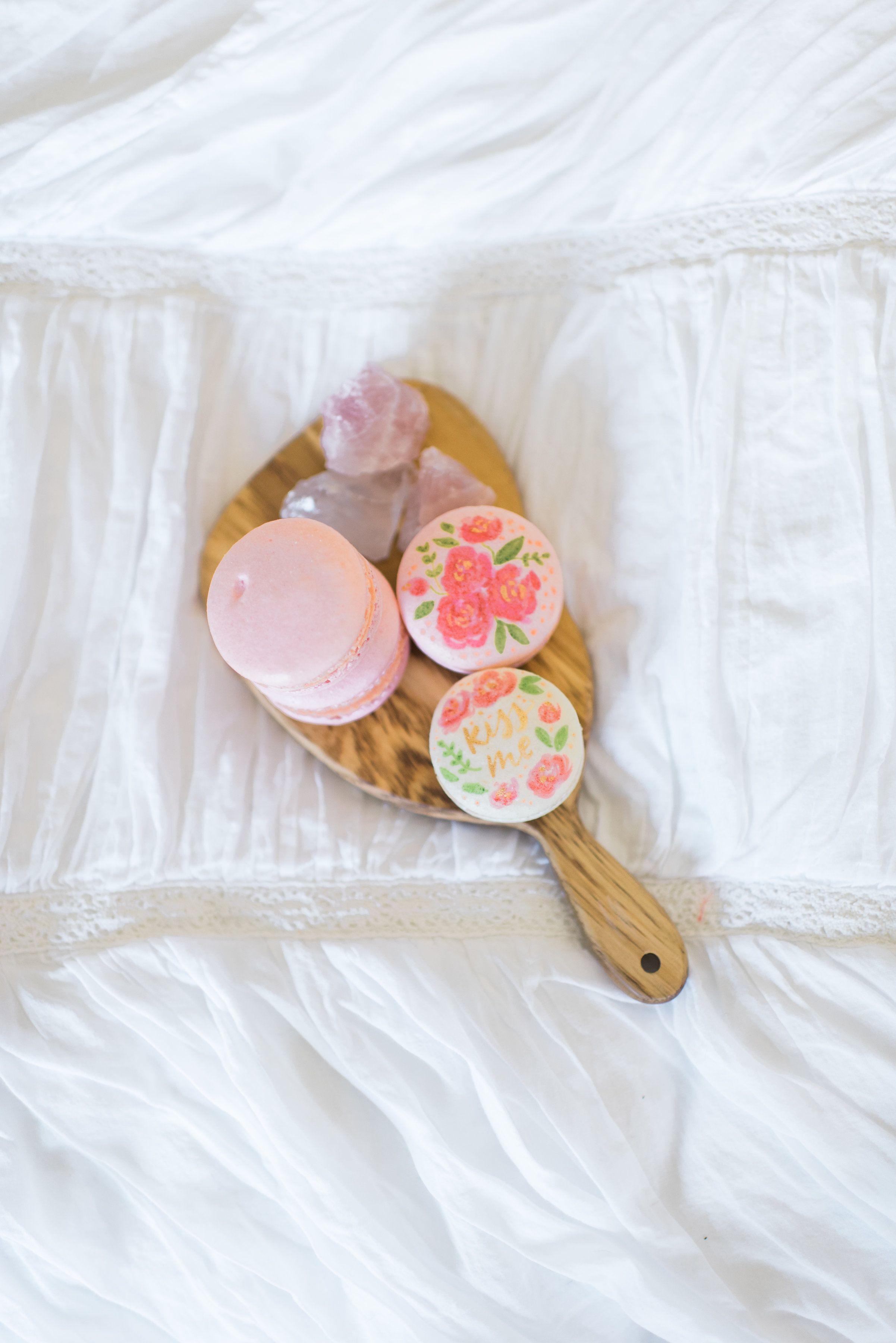 Rosé Macarons, #sweetgemshtx #bakingwithgeology