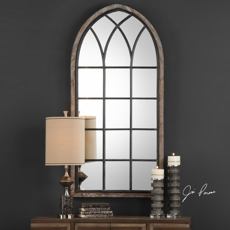 Arched framed accent mirror arch mirror decor home decor