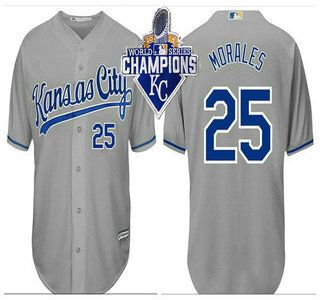 78556c3bb ... Kansas City Royals Jersey 30 Yordano Ventura Gray With 2015 World  Series Champions Patch Jerseys ...