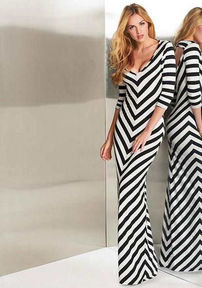 eef690f53a5af Teresa Stripe Maxi Dress - Extended Length - Best Sellers - Clothing - Alloy