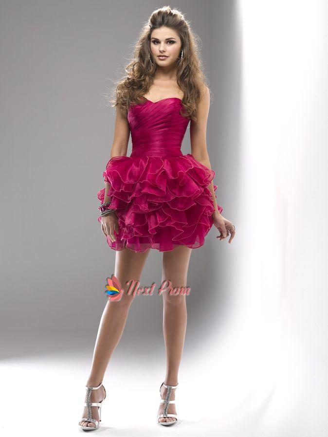 Hot Pink Short Prom Dresses - Ocodea.com