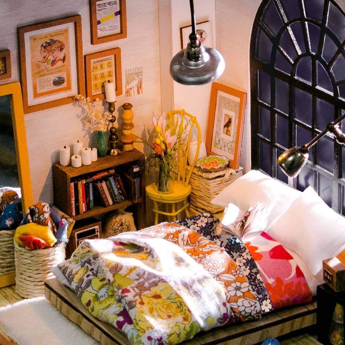 Photo of DIY Miniature Dollhouse Crafting Kit: Dreamy Bedroom