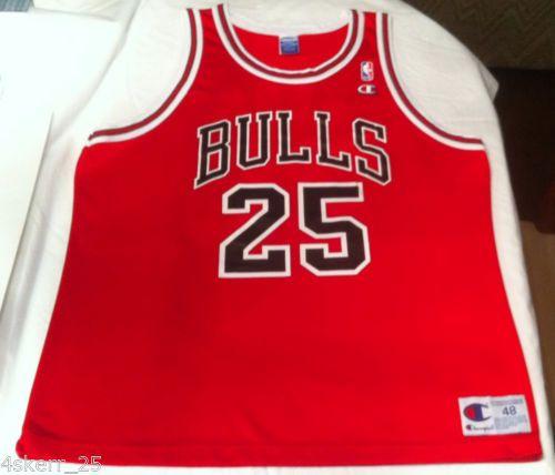 new arrivals a9edd 8c370 Vtg-Steve-Kerr-Chicago-Bulls-Champion-Jersey-48-XL-90s ...