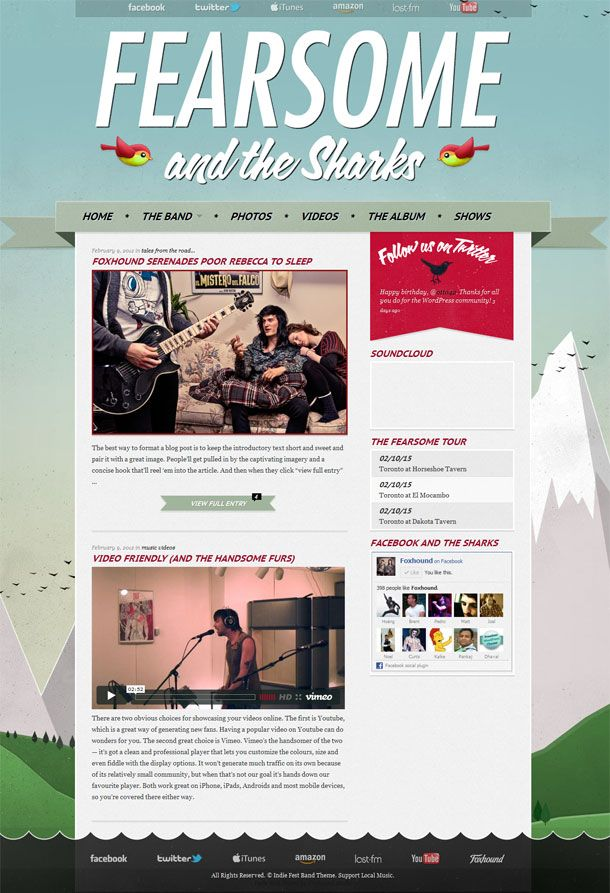Indie Fest WordPress Theme From FoxHound // Indie Clothing Brands ...