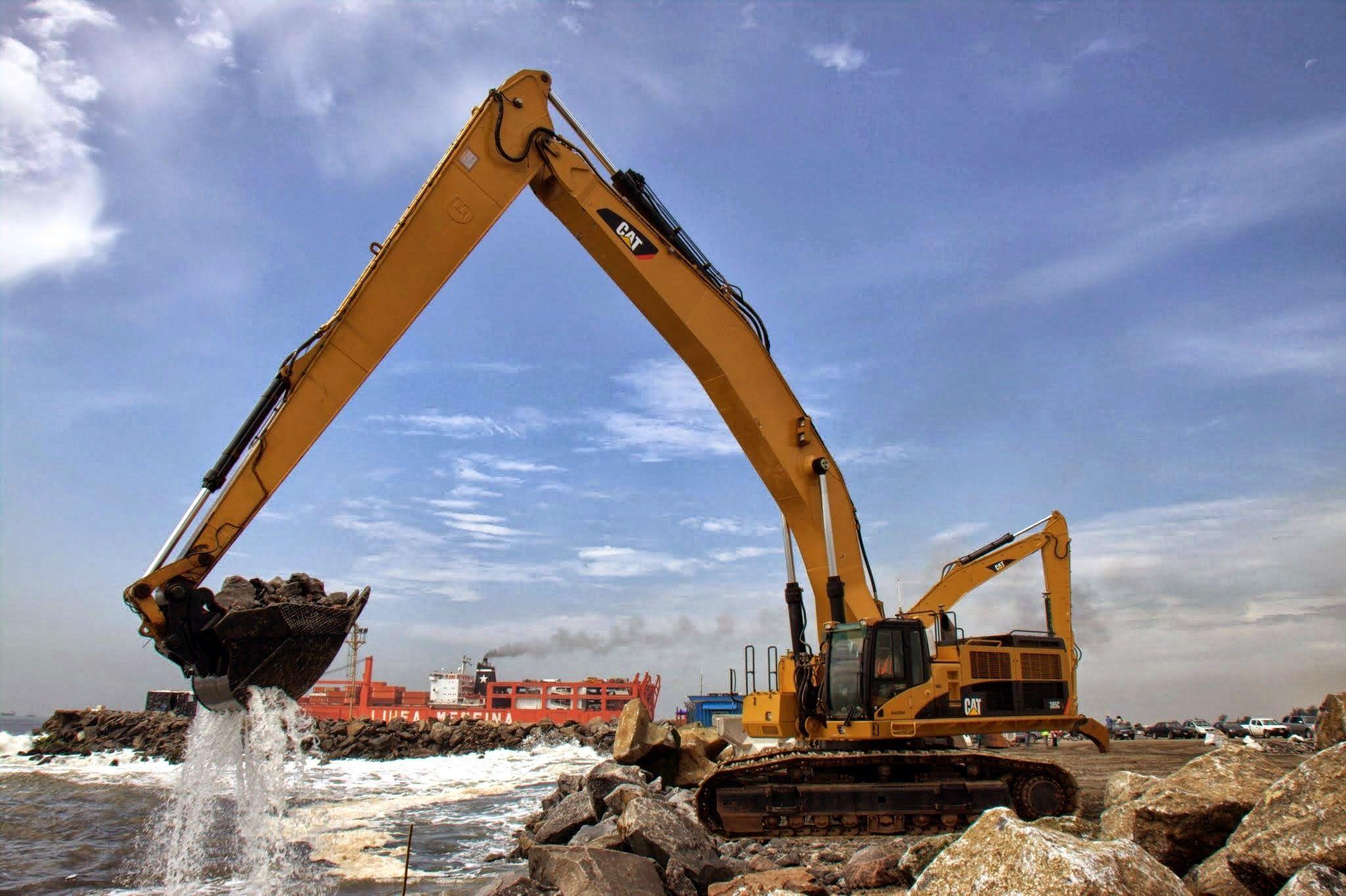 Crane, Construction, Wall, Building
