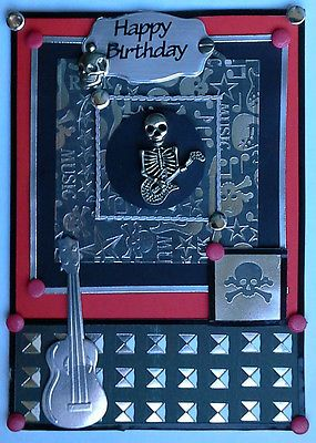 Birthday card goth metal rock skull emo removable tibetan silver birthday card goth metal rock skull emo removable tibetan silver charms bookmarktalkfo Images