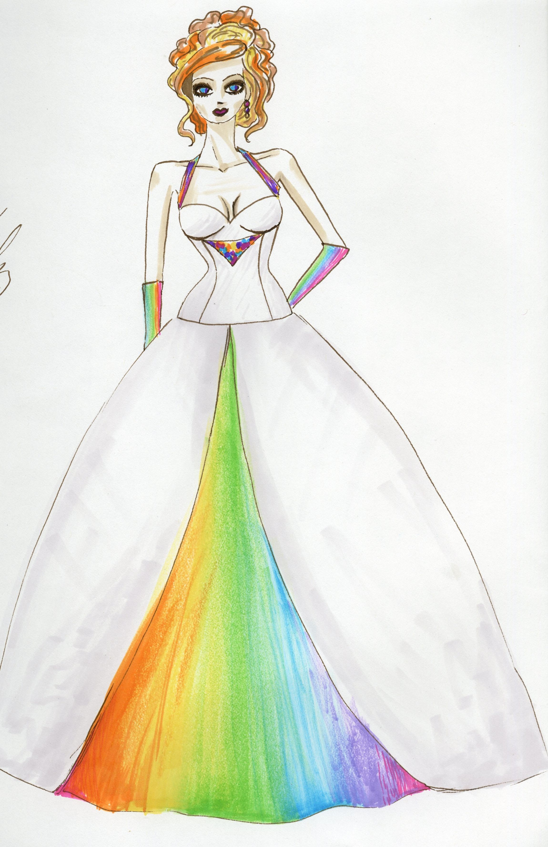 I could never decideey are all beautiful httpetsy colorful rainbow wedding dress design by lovelle fashion design junglespirit Image collections