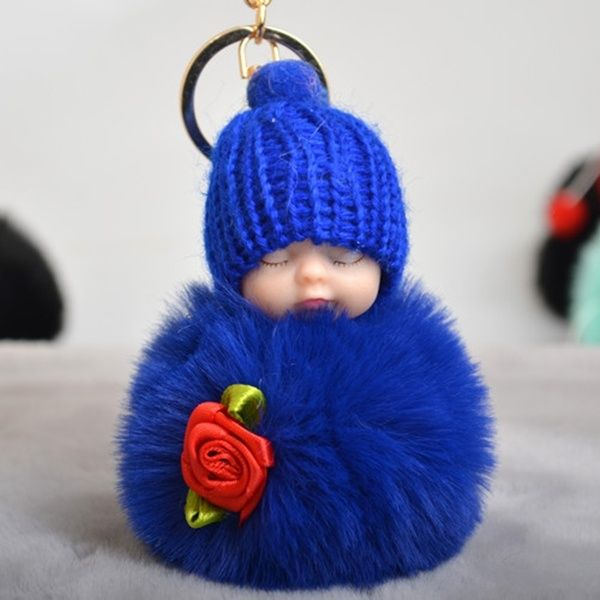 New Ladies fashion Retro Rose flower sleeping cute doll Key chain personality Doll Keychain women classic Car Pendant | Wish