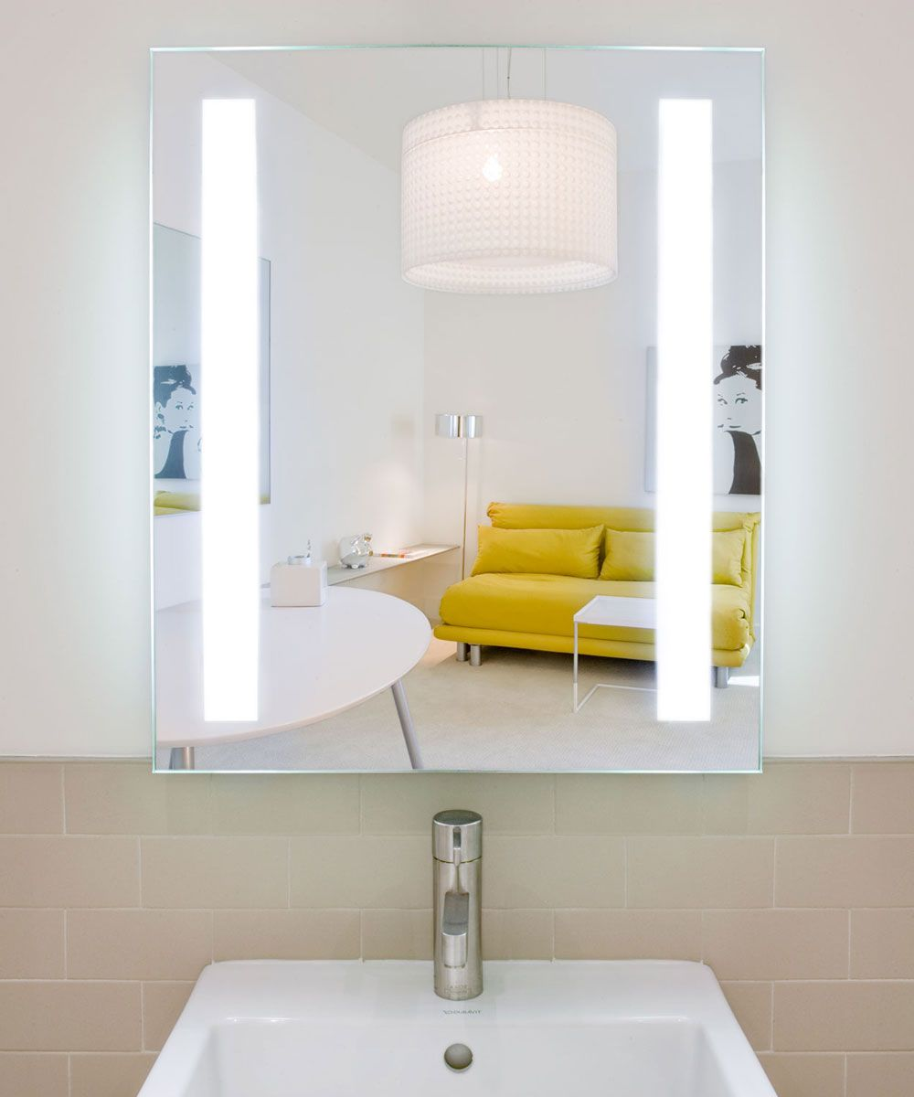 vertical bathroom vanity mirror led illuminated backlit mirror ...