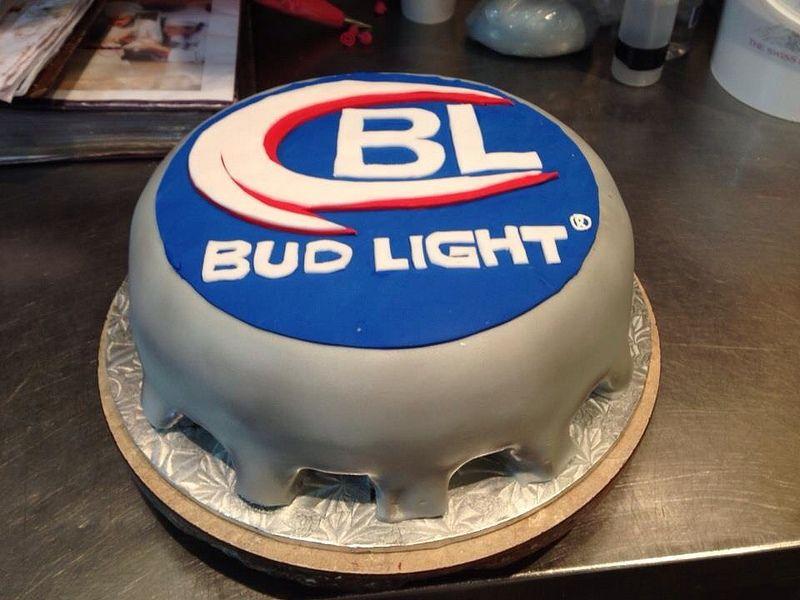 Marvelous Bud Light Cake Designed Sam Lucero Blue Cake Little Rock Ar Funny Birthday Cards Online Benoljebrpdamsfinfo