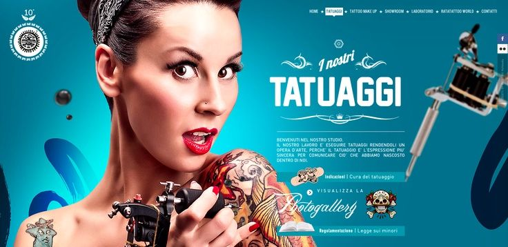 Gorgeous Tattoo Website design with a great use of Parallax ...