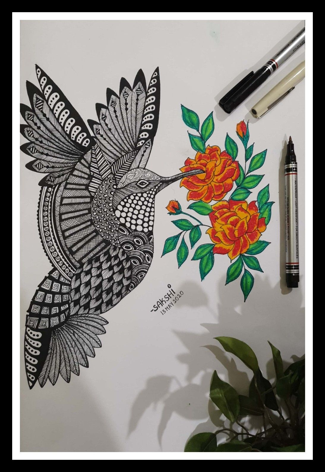 #drawing #sketch #rendering #birdsketch #nature #art #artgram #draw #painting🎨 #fly #rotering #blacksketch #hemmingbird #lovetopaint #color #drawingskills #myart #sketchbook #artist #portrait #artoftheday #zentangle #doodle #creative #artwork