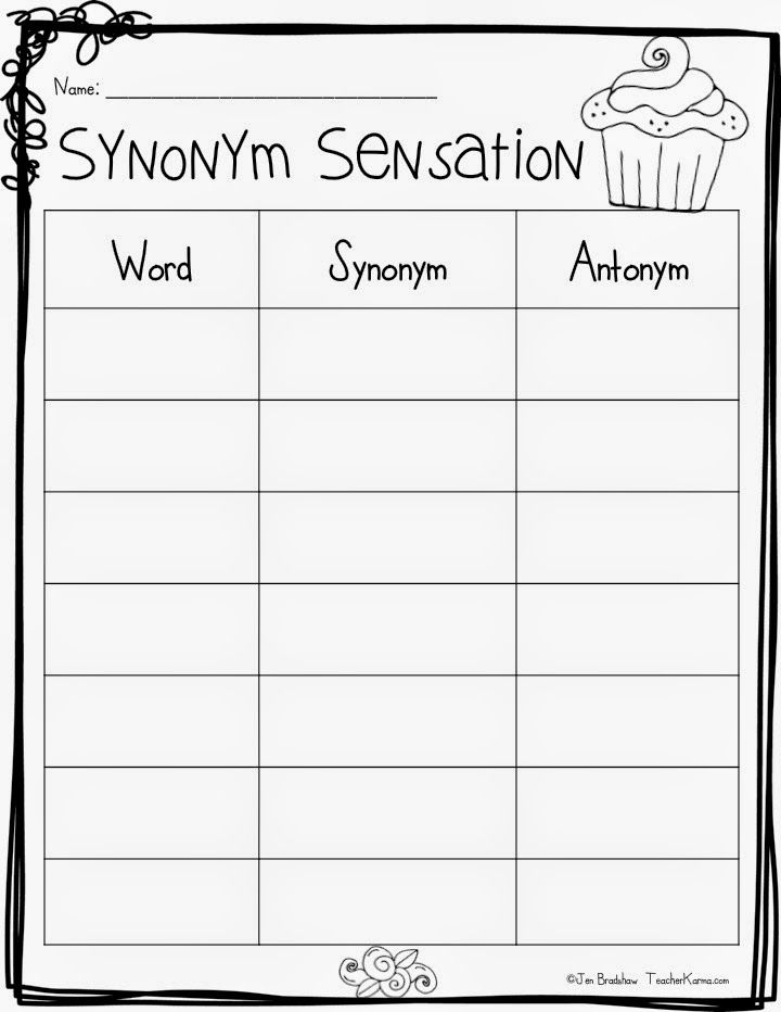 2nd Grade synonyms and antonyms worksheets 2nd grade : FREE: Synonyms are SWEET! Vocabulary Resources! | Free, Language ...