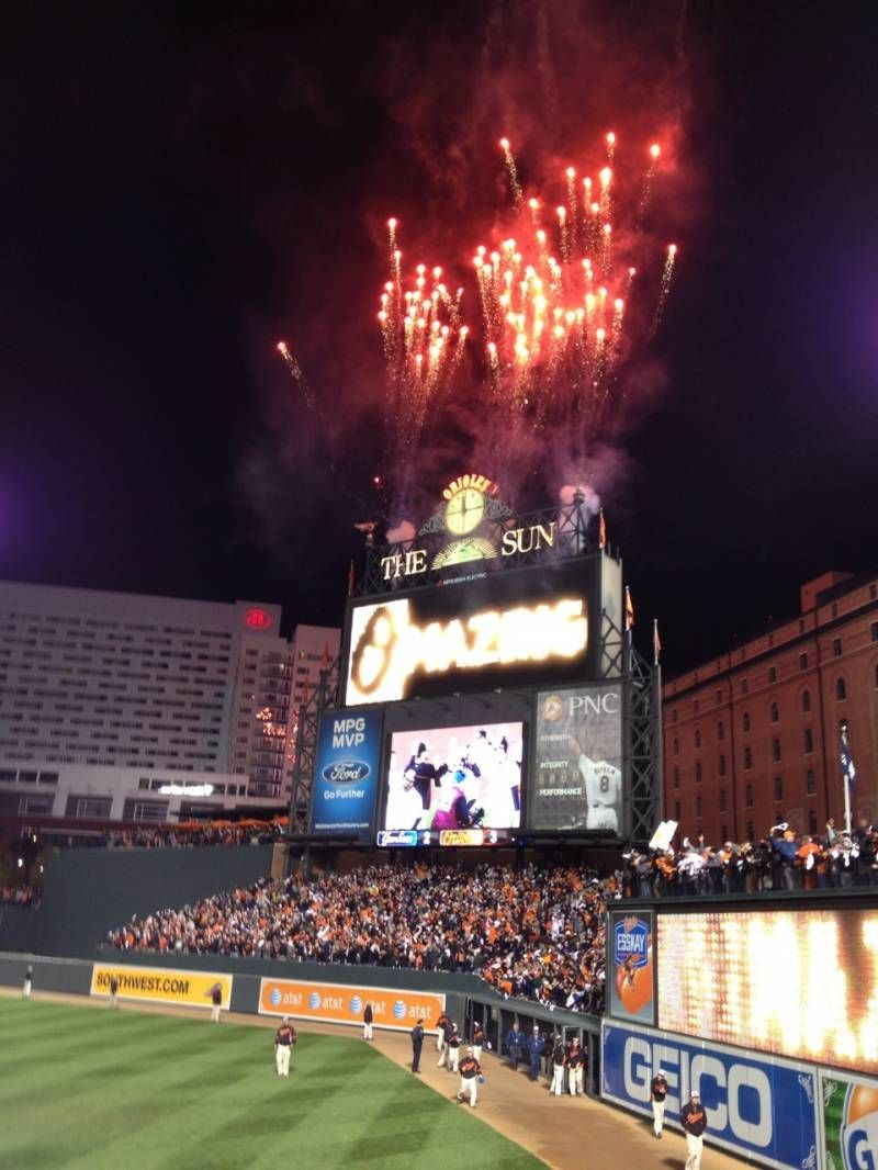 Oriole Park At Camden Yards Section 6 Row 13 Seat 1 Camden Yards Fireworks Photo New York Yankees