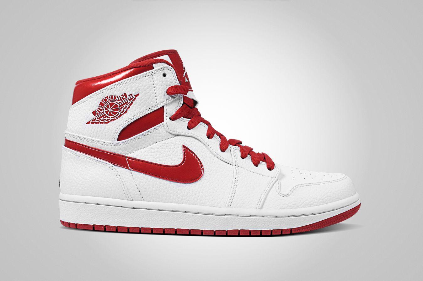 Air Jordan 1 | Air jordans, Popular sneakers, Red and white jordans