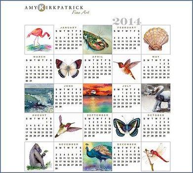 Free 2014 online printable calendars Education Pinterest