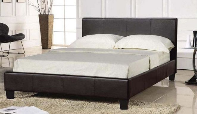 Prado Faux Leather Bed Frame £51 | redhorizon | Pinterest | Leather ...