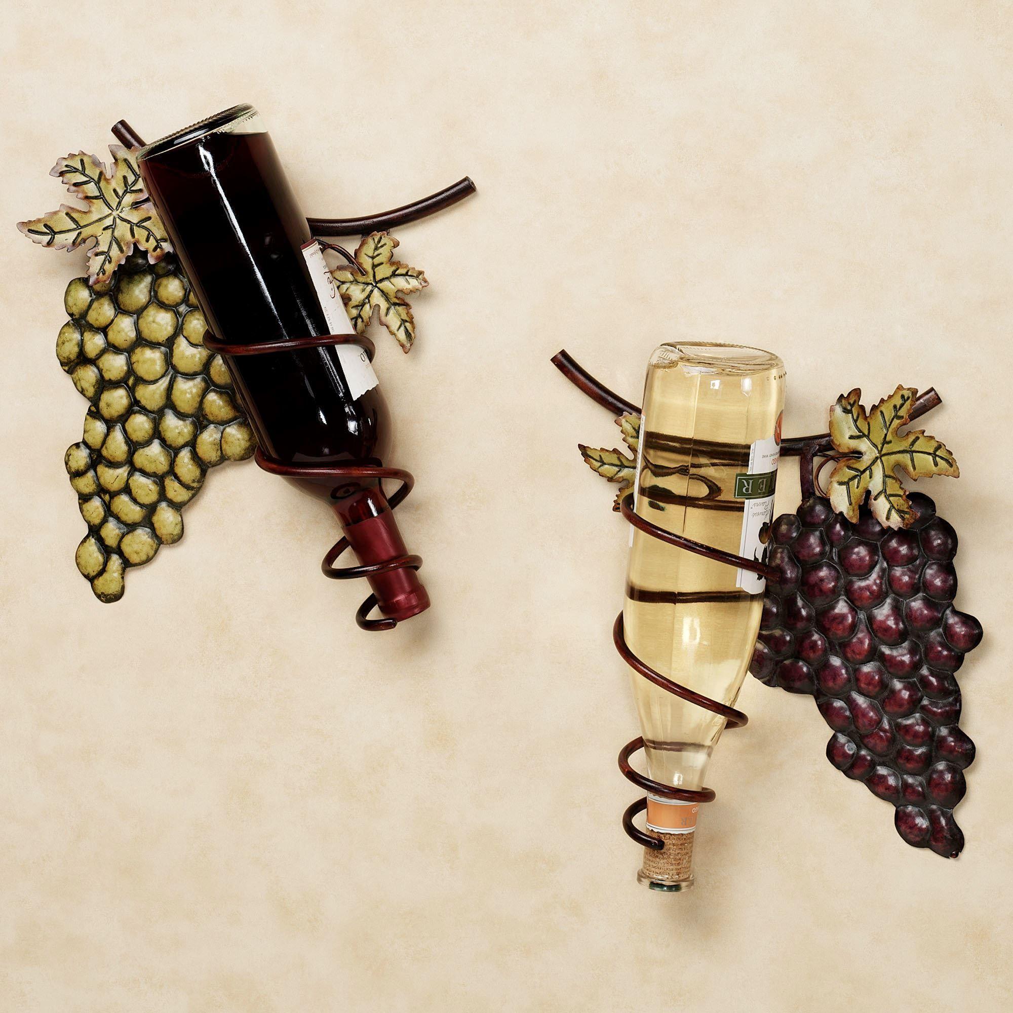 Wine Valley Grapes Metal Wall Wine Rack Set | Wine rack, Metal walls ...
