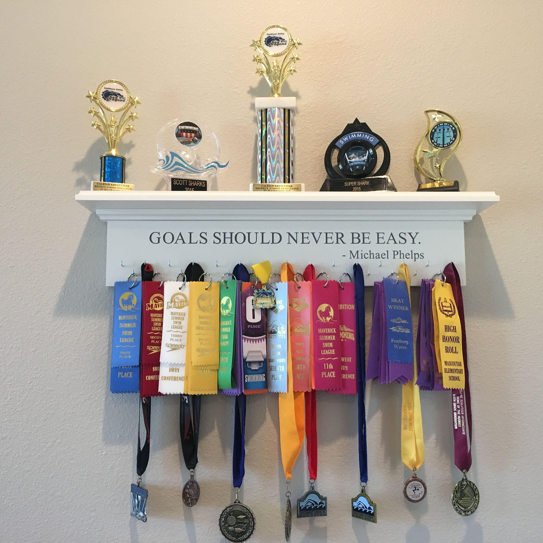 Set of 2 Swimmer Award Hook Medal Display