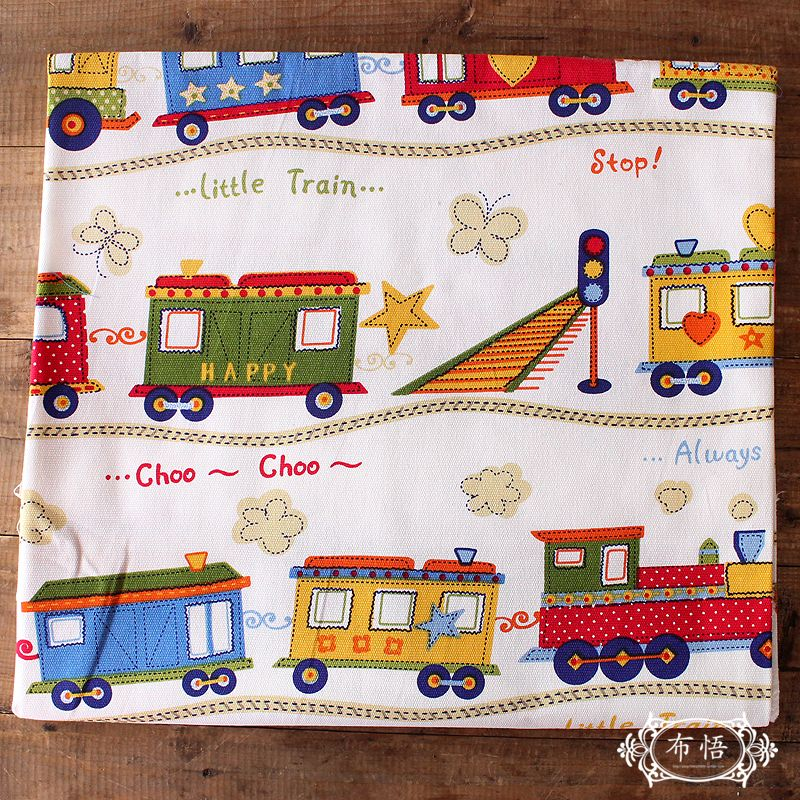 Cartoon Cotton Canvas Patchwork Fabric for Kids
