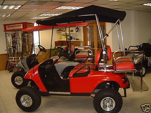 Custom Convertible Sunbrella Bimini Top For All Golf Carts