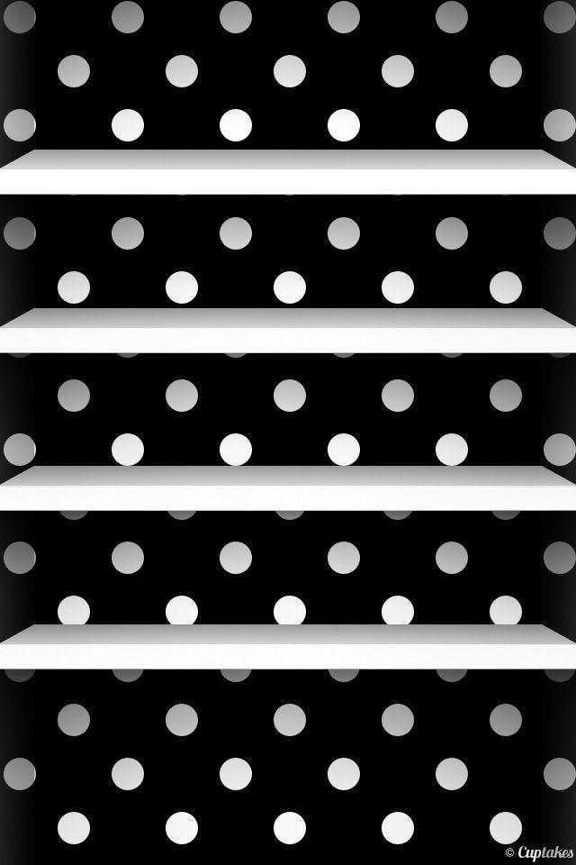 Black White Polka Dots White Shelves For My New Walk In