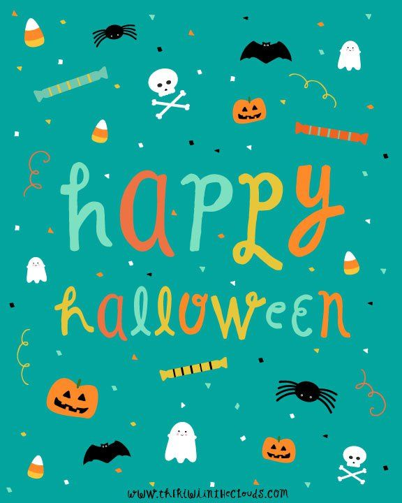 this happy halloween illustration is perfect for a fun and non scary halloween decoration - Non Scary Halloween Decorations
