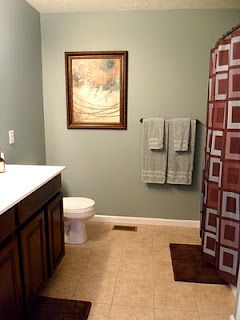 Swell Another Bathroom Done In Sherwin Williams Halcyon Green Home Interior And Landscaping Dextoversignezvosmurscom