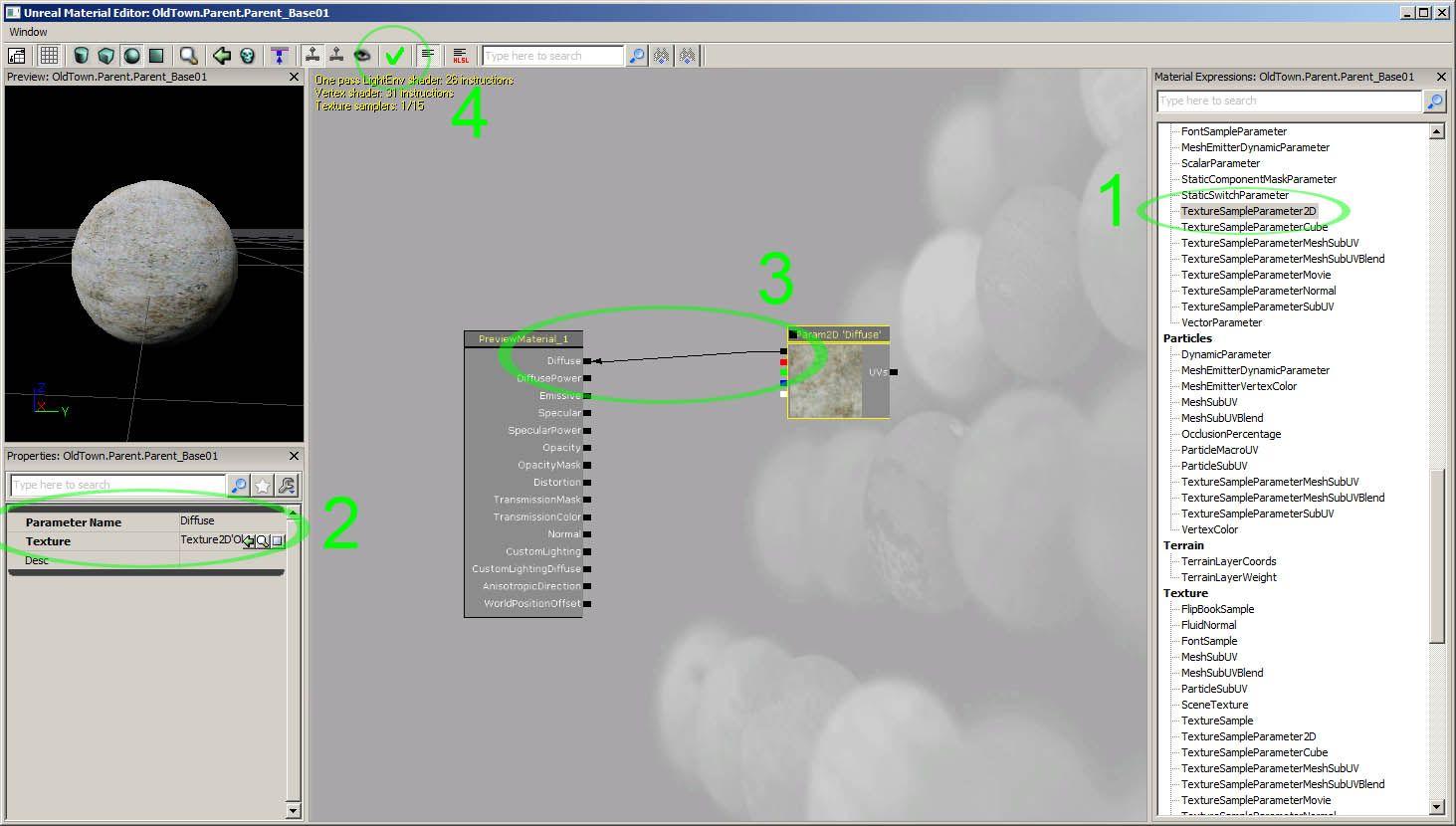 UDK Documentation: Material Editor | 3D Tutorials | 3d
