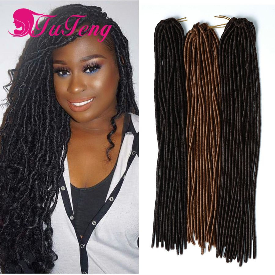 Hot Crochet Braids Faux Locs Hair Extensions 18 Inch 24 Roots 100g
