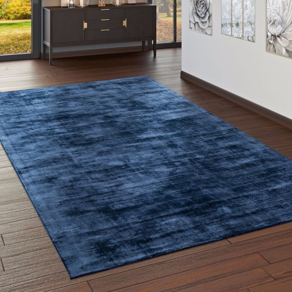 Teppich Handgefertigt Vintage Dunkel Blau In 2020