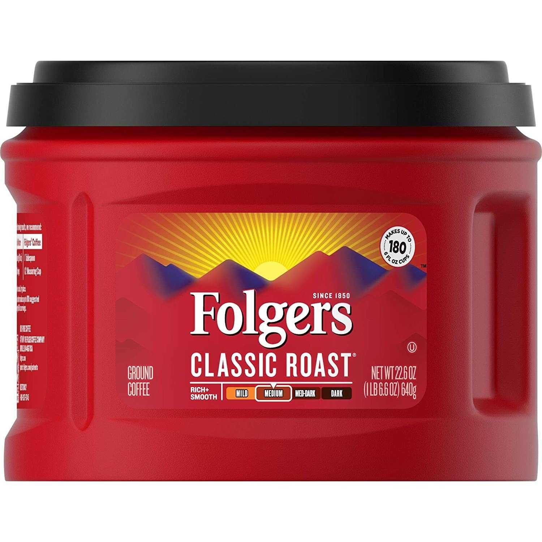 Only 1538 folgers classic roast medium roast ground