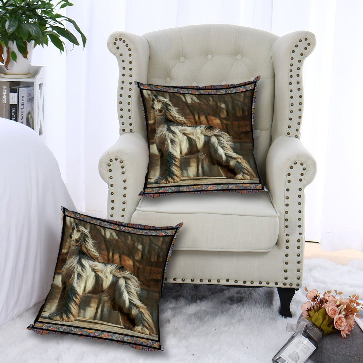 Afghan Hound Look CL010100003MDP Handmade Pillow Case
