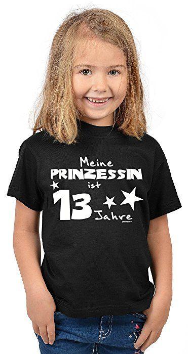 kinder t shirt meine prinzessin ist 13 jahre kindergeburtstag m dchen geschenk f r kinder zum 13. Black Bedroom Furniture Sets. Home Design Ideas