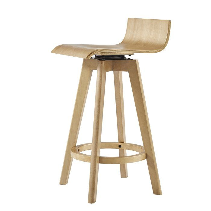 Dery Swivel Bar Counter Stool With Images Wood Bar Stools