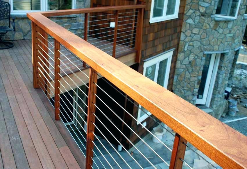 Wood Railing For Deck Horizontal Deck Railing Deck Railing Ideas