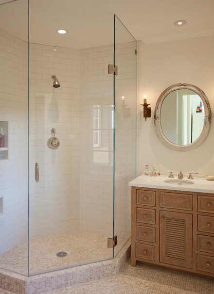 Wonder if placement of shower head is to code Beach House