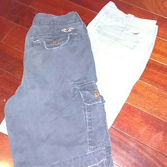 2 pairs of hollister shorts Never worn! Great condition! 1 pair for $20 or both pairs for $30 MENS HOLLISTER SHORTS Shorts