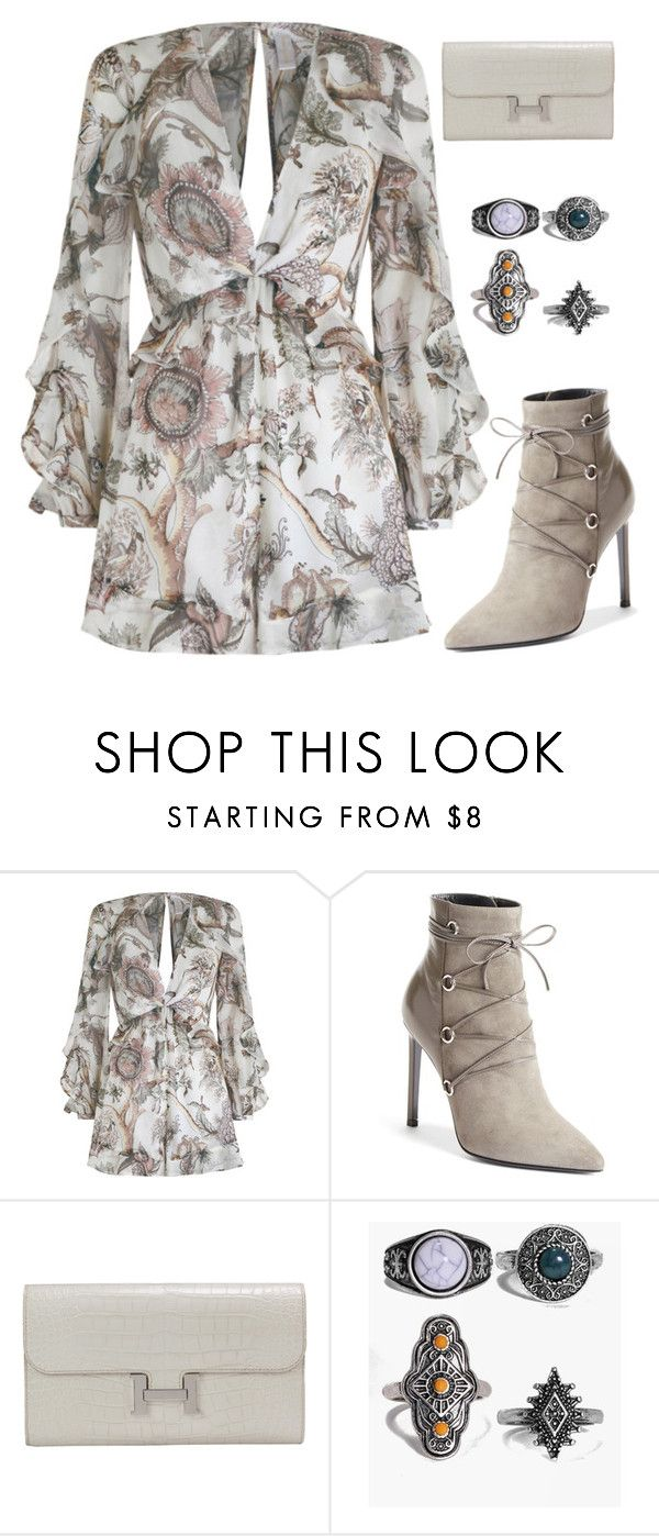 """""""How Far We've Come"""" by staysaneinsideinsanity ❤ liked on Polyvore featuring Zimmermann, Yves Saint Laurent, Hermès and Boohoo"""