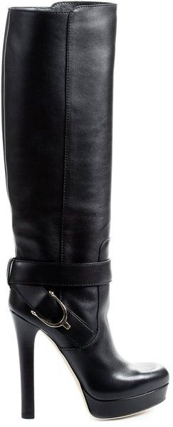 c6a3cb0a688 GUCCI Leather Boot With Stirrup ♥✤