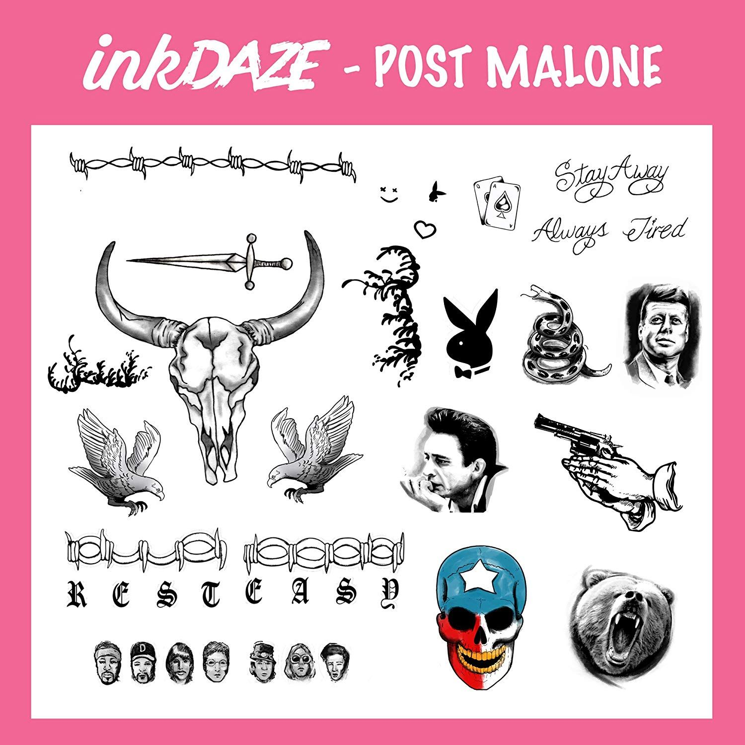 Pin by Ink Daze on ID Post Malone (With images) Card