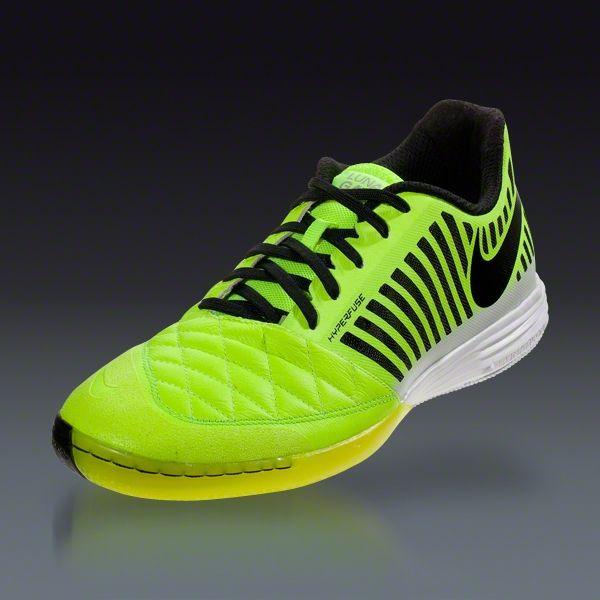 a4901356cb5 Nike Lunar Gato II - Volt Black White Indoor Soccer Shoes