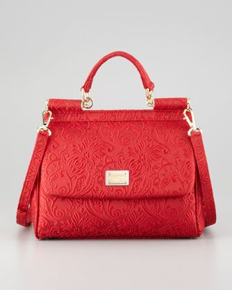 Miss Sicily Brocade Flap Bag, Red by Dolce & Gabbana at Neiman Marcus. $1595