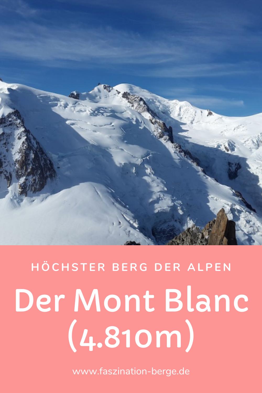 Der Mont Blanc Hochster Berg Der Alpen Mont Blanc Alpen Franzosische Alpen