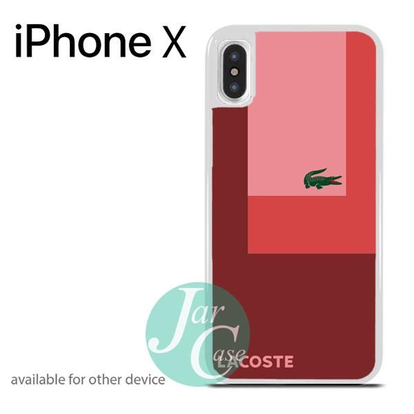 Lacoste Red Style Phone case for iPhone X