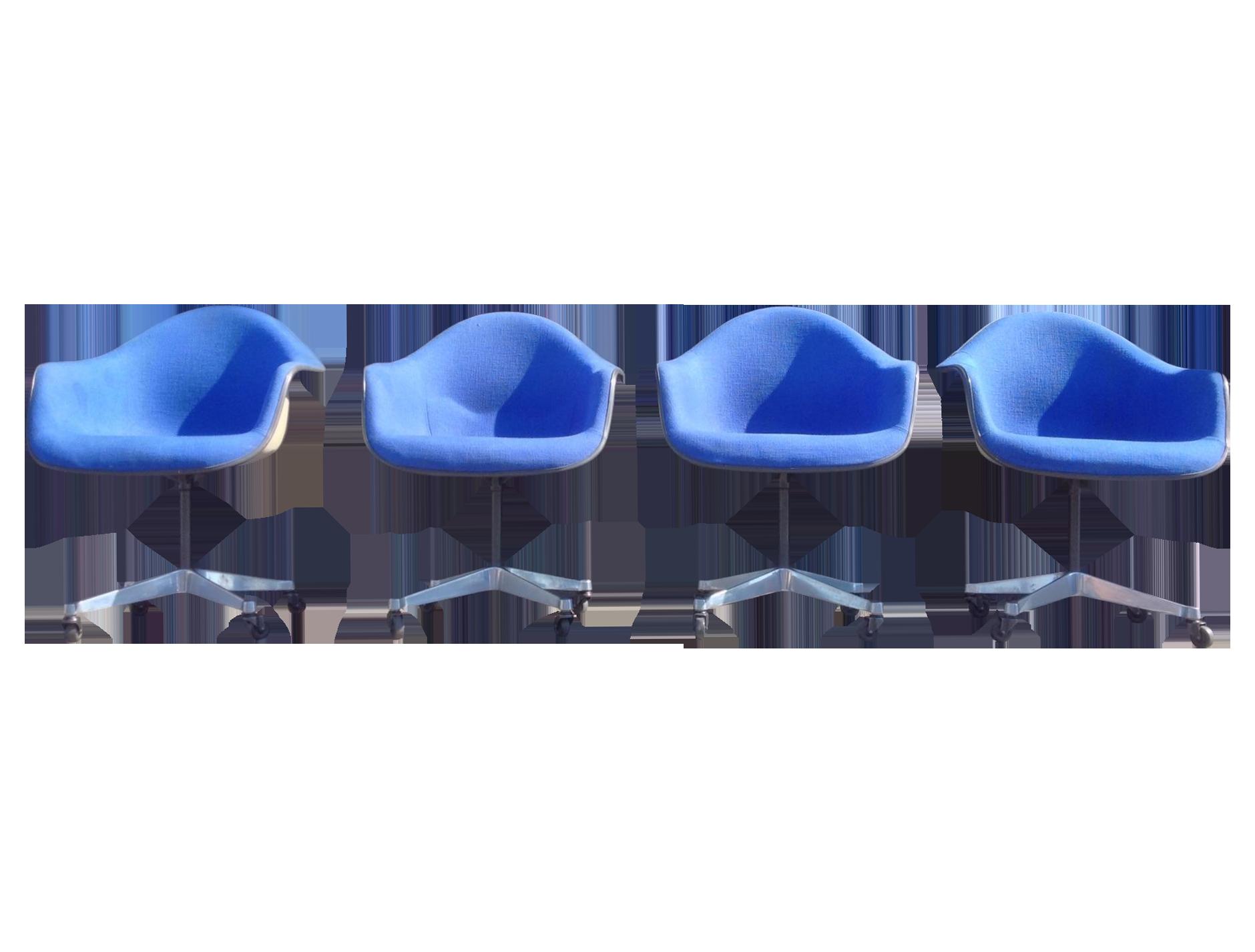 Herman Miller MCM Eames Bucket Chairs on Chairish.com