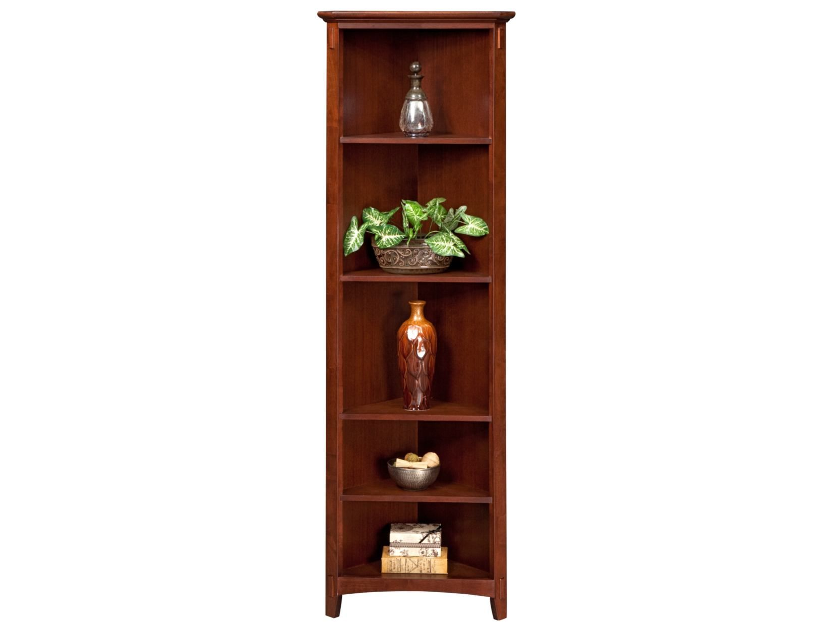 Arts Crafts Chocolate Corner Bookcase American Signature Furniture Valuecitypintowin