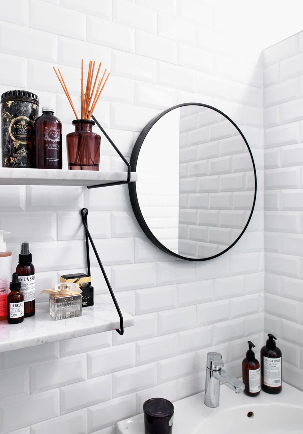 Piastrelle bianche diamantate per un bagno super luminoso - Piastrelle diamantate bagno ...