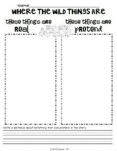 free real or make believe worksheets - Google Search   reading ...