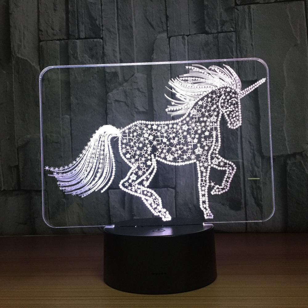 Unicorn Touch 3d Optical Illusion Lamp 3d Optical Illusions 3d Illusion Lamp Illusions